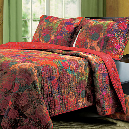 Greenland Home Fashions Jewel Bohemian Quilt Set
