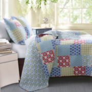 Greenland Home Fashions Kendall Geometric Quilt Set