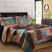 Greenland Home Fashions New Bohemian Patchwork Quilt Set