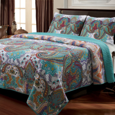 jcpenney.com | Greenland Home Fashions Nirvana Paisley Quilt Set