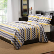 Greenland Home Fashions Vida Modern Chevron Quilt Set