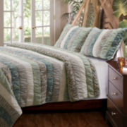 Greenland Home Fashions Paradise Ruched Quilt Set