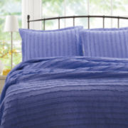 Greenland Home Fashions Ruffled Lavender Quilt Set