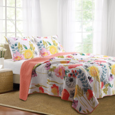 jcpenney.com | Greenland Home Fashions Watercolor Dream Floral Quilt Set