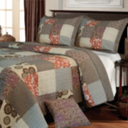 Greenland Home Fashios Stella Patchwork Quilt Set