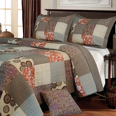 Greenland Home Fashions Stella Patchwork Quilt Set