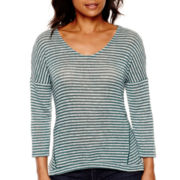 a.n.a® 3/4-Sleeve Textured Knit Top- Petites