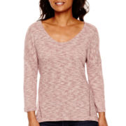 a.n.a® 3/4-Sleeve Textured Knit Top
