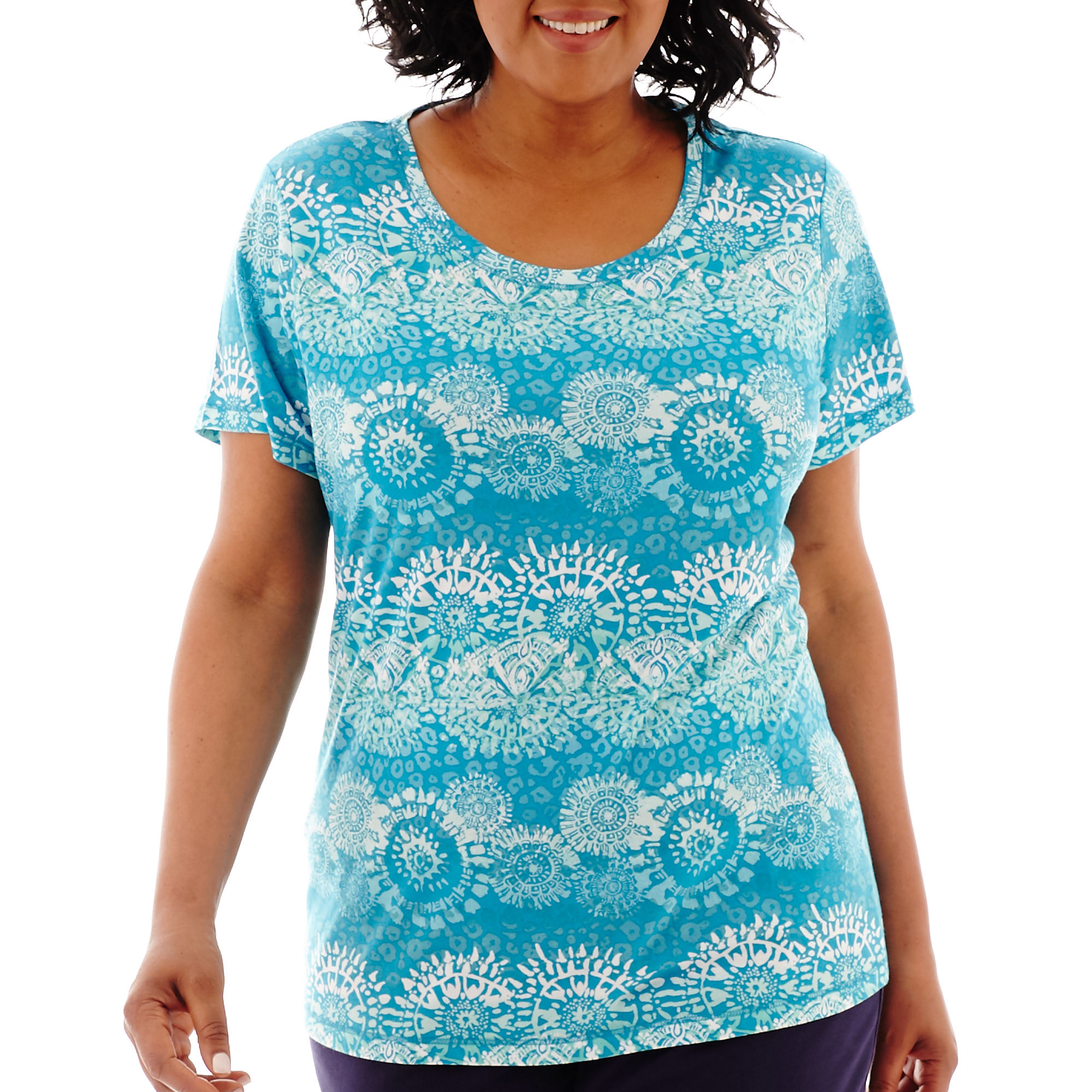Made For Life Short-Sleeve Yoga T-Shirt - Plus