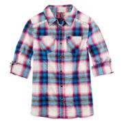 Arizona Button-Front Shirt - Girls 7-16 and Plus