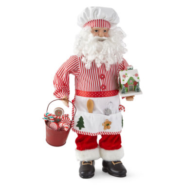 "jcpenney.com | North Pole Trading Co. 18"" Baker Santa"