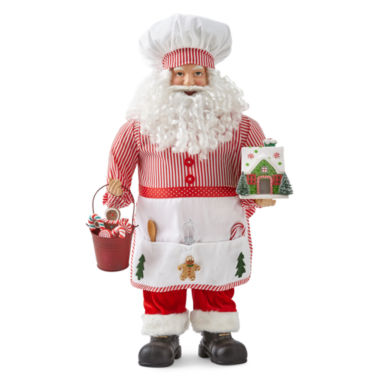 "jcpenney.com | North Pole Trading Co. 24"" Baker Santa"