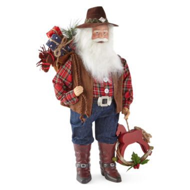 "jcpenney.com | North Pole Trading Co. 18"" Cowboy Santa"