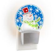 North Pole Trading Co. Blinking Snowman Nightlight