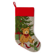 North Pole Trading Co. Teddy Bear Stocking