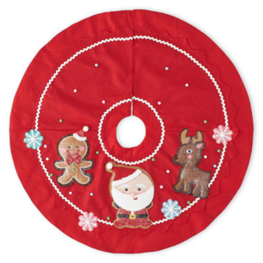 "jcpenney.com | North Pole Trading Co. 48"" Gingerbread Tree Skirt"