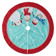 "North Pole Trading Co. 52"" Embroidered Snowman Tree Skirt"