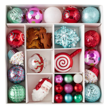 jcpenney.com | North Pole Trading Co. 50 Piece Whimsical Boxed Ornaments