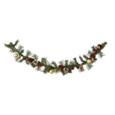 jcpenney.com | North Pole Trading Co. Pine Cone Floral Garland