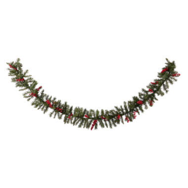 jcpenney.com | North Pole Trading Co. 9' Vienna Pre Lit Garland