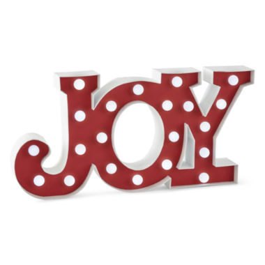 jcpenney.com | North Pole Trading Co. Joy Marquee Sign