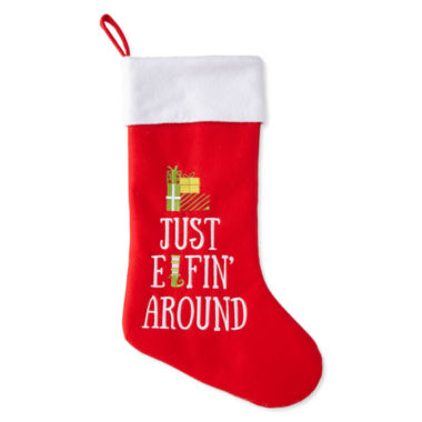 jcpenney.com | North Pole Trading Co. Just Elfin Around Stocking