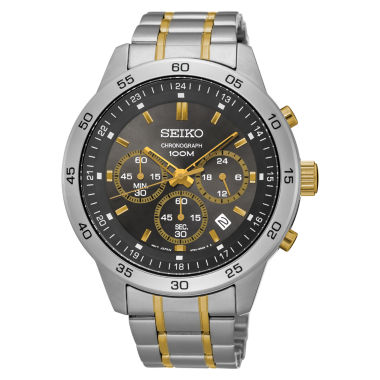 jcpenney.com | Seiko Mens Two Tone Bracelet Watch-Sks525