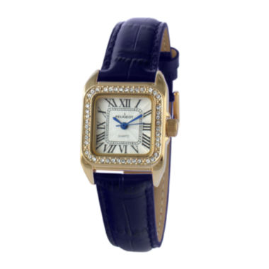 jcpenney.com |   Peugeot® Womens Gold Tone And Blue Leather Strap Watch 3052BL