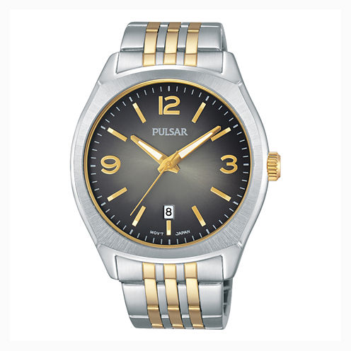 Pulsar® Men's Traditional Silver-Tone Watch PS9483