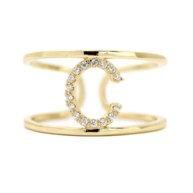 "jcpenney.com | city x city® Cubic Zirconia Adjustable ""C"" Ring"