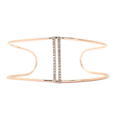 jcpenney.com | city x city® Rose-Tone Bar Cuff Bracelet