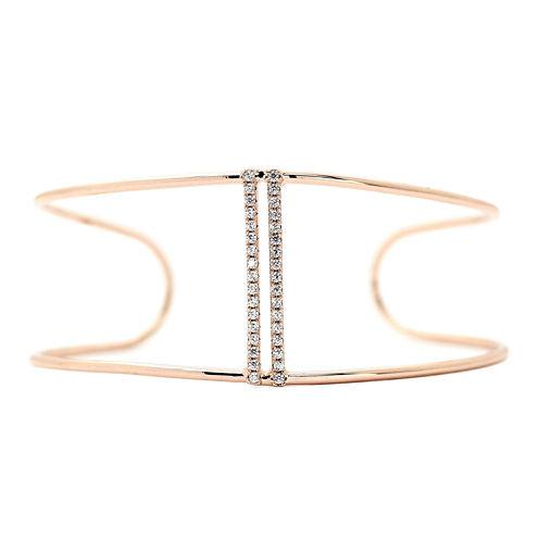 city x city® Rose-Tone Bar Cuff Bracelet