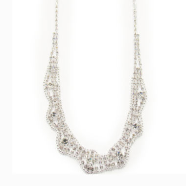 jcpenney.com | Vieste® Silver-Tone Crystal Lacy Collar Necklace