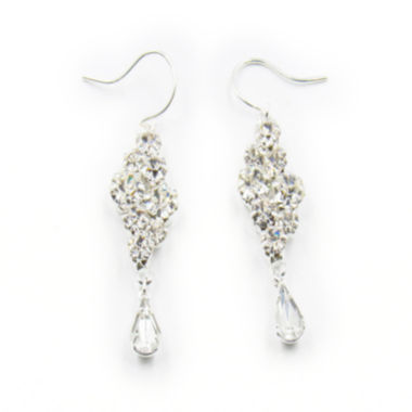 jcpenney.com | Vieste® Silver-Tone Crystal Bubble Drop Earrings