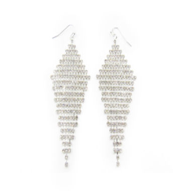 jcpenney.com | Vieste® Silver-Tone Large Crystal Kite Drop Earrings