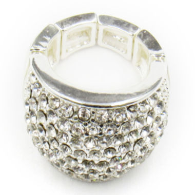 jcpenney.com | Vieste® Silver-Tone Crystal Pave Stretch Ring