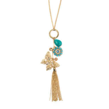 jcpenney.com | Arizona Gold-Tone Butterfly Tassel Necklace
