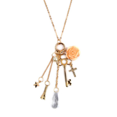 jcpenney.com | Arizona Gold-Tone Rose, Key, Cross & Star Charm Necklace