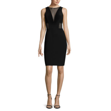 jcpenney.com | R&M Richards Sheer Inset Deep V Sheath Dress
