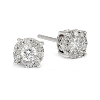 jcpenney.com | LIMITED QUANTITIES 1/2 CT. T.W. White Diamond 14K Gold Drop Earrings