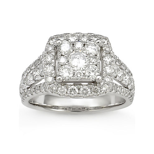 LIMITED QUANTITIES! 2 CT. T.W. Diamond 14K White Gold Ring