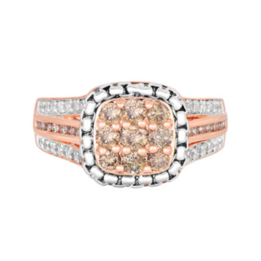 jcpenney.com | LIMITED QUANTITIES! 7/8 CT. T.W. Champagne Diamond 14K Rose Gold Over Silver Ring