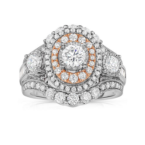 LIMITED QUANTITIES! 2 CT. T.W. Diamond 14K Two Tone Ring