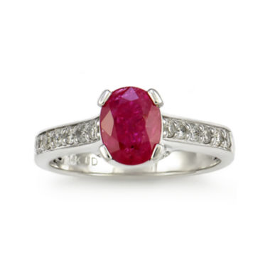jcpenney.com | Lead Glass-Filled Ruby 14K White Gold Ring