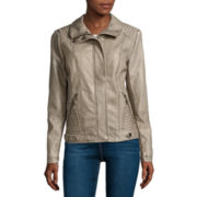 Seba Scuba Long-Sleeve Faux-Fur-Collar Coat