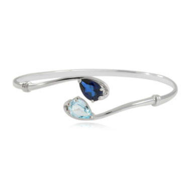 jcpenney.com | Lab Created Blue Sapphire & Genuine Blue Topaz Sterling Silver Bangle