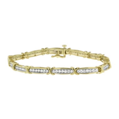 jcpenney.com | 2 CT. T.W. Diamond 10K Yellow And White Gold Bracelet