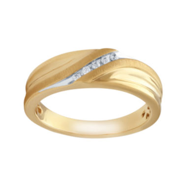 jcpenney.com | Mens Diamond Accent 10K Yellow Gold Wedding Band