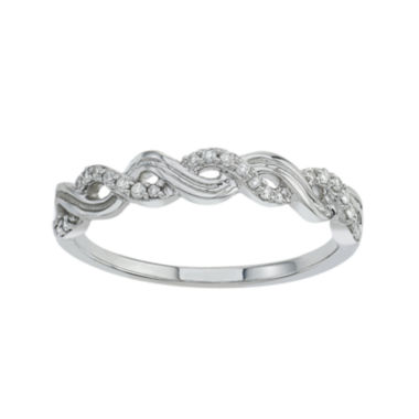 jcpenney.com | 1/10 CT. T.W Diamond 10K White Gold Wedding Band