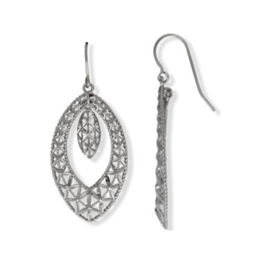 jcpenney.com | 10K White Gold Marquis Drop Earrings